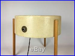 Vintage 1950 Bill Lam Molded Fiberglass Lamp Table Model LL-130