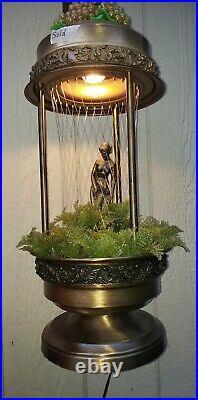 Vintage 30 NUDE GODDESS MINERAL OIL RAIN TABLE TOP LAMP 1970s