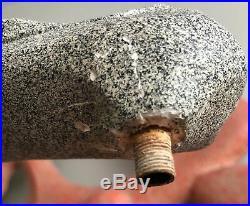Vintage 50s Chalkware Plaster Lamps Fiberglass Shades Mid Century Modern Atomic
