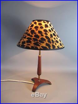 Vintage 60er Jahr Teak Tischleuchte tripod table lamp 60s
