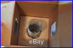 Vintage Aladdin Table Top Lamp No. 23 Kerosene Oil Lantern Brass Glass Fount NOS
