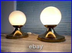Vintage Antique Pair Art Deco Style Table Lamp Mid Century Design Bedside Light