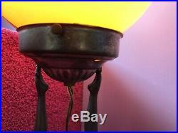 Vintage Art Deco 2 Nudes Frankart Lamp Signed 1928 Frankart