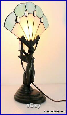 Vintage Art Deco Bronze Figural Lamp Nude Figurine Lamp Fairy Pixie Sprite