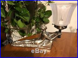 Vintage Art Deco Chandler Laying Lady Lamp