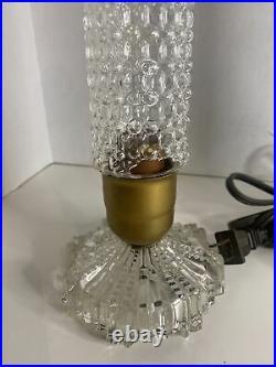 Vintage Art Deco Glass Bullet Torpedo Skyscraper Boudoir Antique Lamps Pair