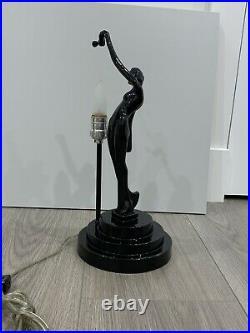 Vintage Art Deco Sarsaparilla Reproduction of Frankart Nude Lamp 1980s