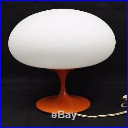 Vintage Bill Curry Stemlite Design Line Orange Mushroom Table Lamp Mid Century