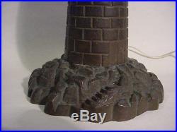 Vintage Circa 1930 SOLID BROWN BRONZE COASTAL LIGHTHOUSE TABLE LAMP 15