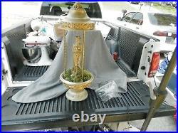 Vintage Creators Inc Goddess Oil Rain Lamp Table Top 29 Tall Parts Estate Find