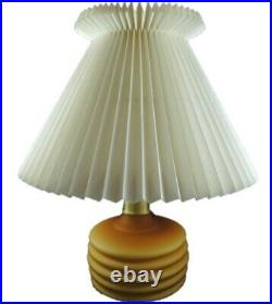 Vintage Danish Le Klint 313 Art Glass Table Lamp with Le Klint Shade