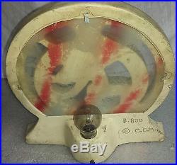 Vintage Deco dancing lady table lamp antique desk light C. S. M. Co. Chalkware