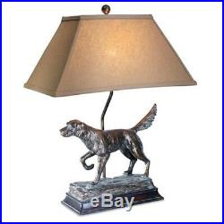 Vintage Direct L7082AZGS 28 in. Hunting Dog Table Lamp
