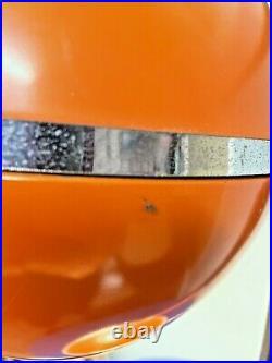 Vintage Eyeball Space Age Orange Metal & Chrome Table Lamp Mid Century Modern