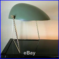 Vintage Gerald Thurston Cricket Desk Lamp RARE Avocado Green MCM Atomic Knoll