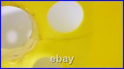 Vintage Gilbert Softlite Mushroom Lamp Plastic BLACK AND YELLOW MCM Pop Era