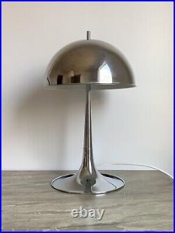 Vintage Goffredo Reggiani Chrome Mushroom Table Lamp 1960s Dome Lamp MCM