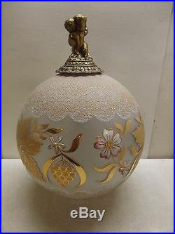 Vintage Gone With The Wind Gold Gilded Double Cherub Parlor Lamp Light