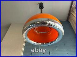 Vintage Guzzini Style Mid Century Pendant Space Age UFO Lamp Atomic Design Light