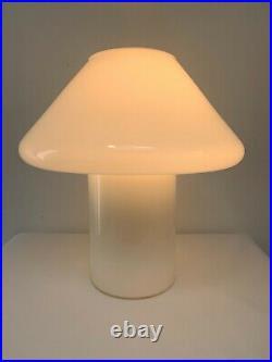 Vintage Habitat Conran Hala Zeist Cased White Glass Mushroom Table Lamp