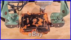Vintage Industrial Articulating Desk Lamp-Work Bench Task Light w Charge Station
