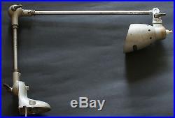 Vintage Industrial German Table Flexible Arm Desk Lamp Light PFAFF 1950's
