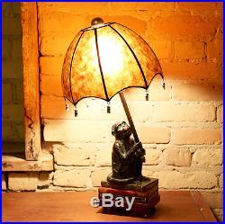 Vintage Intellectual Monkey 21.75 inch H Table Lamp Deco Art Light