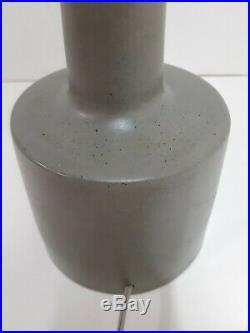 Vintage Jane & Gordon Martz Marshall Studios Dark Gray Ceramic Table Lamp