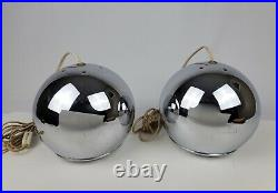 Vintage Kovacs Chrome Orb Lights / Lamps Mid-Century Space Age Swag or Table