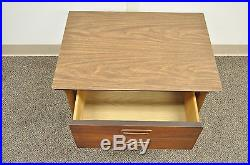 Vintage Lane Mid Century Modern Walnut & Laminate Nightstand Lamp End Side Table