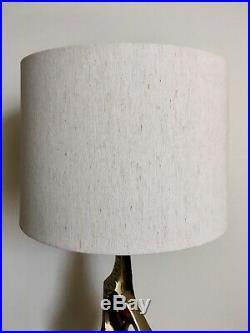 Vintage Laurel Lamp. Mid Century Modern Maurizio Tempestini Brutalist brassLamp