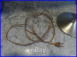 Vintage Laurel Mushroom Lamp by Bill Curry Mid Century Modern Chrome Table Lamp