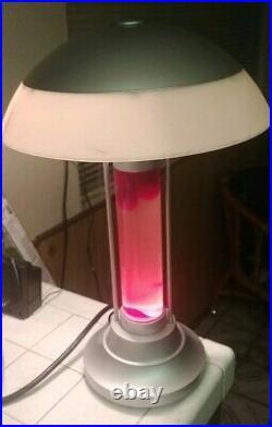 Vintage! Lava desk table Lamp Lite Light saucer ufo retro Classic Style Rare