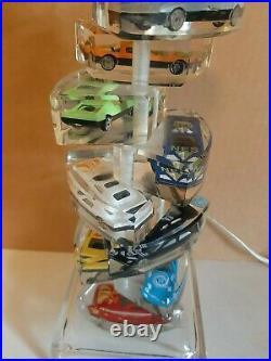 Vintage Lucite/hot Wheels/ MATCHBOX/ LIKE CAR TABLE LAMP 1980s