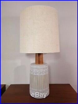 Vintage MARTZ Marshall Studios Walnut Stoneware Ceramic Table Lamp Shade SIGNED
