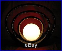 Vintage MCM Black Glazed Ceramic Table Lamp HARRIS China Modern Art Deco Light