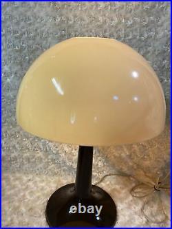 Vintage MCM Gilbert Softlite Mushroom Lamp Plastic Beige and Brown Pop Era 1970s