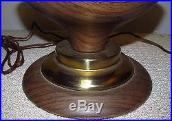 Vintage MCM/Spun/Retro/Tulip/Spaghetti/Fibreglass/4 Amber Globe Table Lamp J326