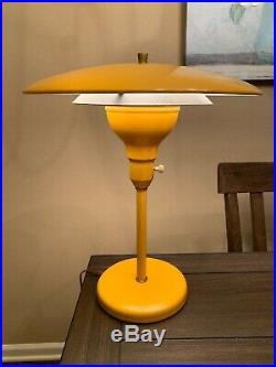 Vintage M. G. Wheeler Sight Light Table Lamp Mid-Century Modern Yellow Atomic