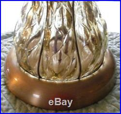 Vintage Marbro Lamp Company Hand Blown Caged Murano Lamp 1960's 42 Tall