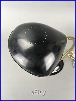 Vintage Mid Century Greta Grossman Style Cobra Gooseneck Modern Desk Lamp