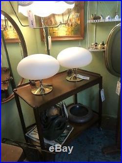 Vintage Mid Century Modern Brass color Laurel Lamp Co Mushroom Table Lamp