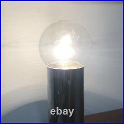 Vintage Mid Century Modern Chrome Edison Bulb Table Lamp