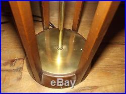 Vintage Mid Century Modern Danish Teak Table Lamp