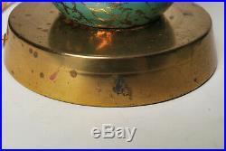 Vintage Mid-Century Modern Deena Atomic Eames Era Lamp 2 Tier Fiberglass Shade