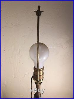 Vintage Mid-Century Modern Italy Pottery Table Lamp Bitossi Aldo Londi Raymor