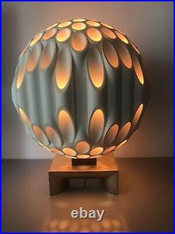 Vintage Mid Century Modern Rougier Tube Table Lamp