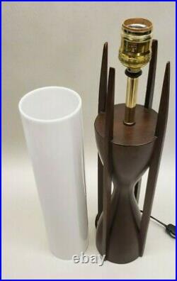 Vintage Mid Century Modern TEAK Lamp The Modeline Lamp Company Very Nice