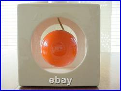 Vintage Mod Groovy 1960's Orange Swinging Ball Table Lamp