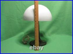 Vintage Mushroom Brown/ White Plastic Table Lamp